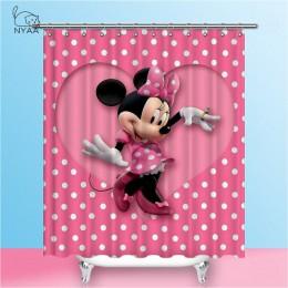 NYAA Mickey zasłony prysznicowe wodoodporna tkanina poliestrowa zasłony łazienkowe do wystroju domu