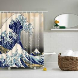 Nowe kolorowe ekologiczne muszle plażowe rozgwiazda Shell poliester wysokiej jakości zmywalne dekoracyjne kąpielowe zasłony prys