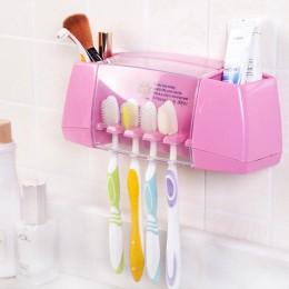 Plastikowy uchwyt na szczoteczki do zębów łazienka organizer akcesoria narzędzia stojak do przechowywania pasty do zębów golarka