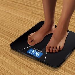 A2 precyzja waga łazienkowa ciała inteligentny elektroniczny waga cyfrowa na piętro w domu równowagi szkło hartowane wyświetlacz