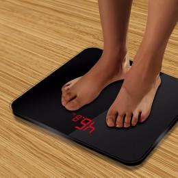 A3 wagi łazienkowe dokładne inteligentne elektroniczne waga cyfrowa na piętro w domu zdrowia równowaga ciało szklany wyświetlacz
