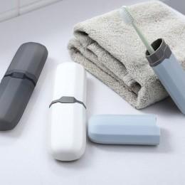 Podróż przenośne na szczoteczkę do zębów uchwyt do pasty do zębów schowek akcesoria łazienkowe Camping pokrowiec na szczoteczkę