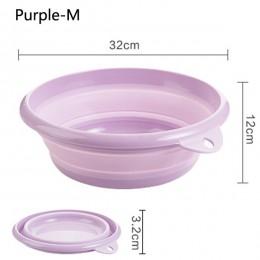Podróż składana umywalka wiadro pojemnik przenośna umywalka owocowa składana silikonowa umywalka umywalka dla dzieci akcesoria ł