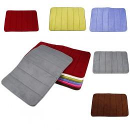 1Pc łazienka z pianki Memory dywanik kąpielowy dywan nie-antypoślizgowa pochłaniająca z polaru mata do sypialni wycieraczka do k