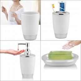 4 sztuk/zestaw łazienka komplet garniturów akcesoria do kąpieli towarów zawiera mydelniczka kubek uchwyt na szczoteczki do zębów