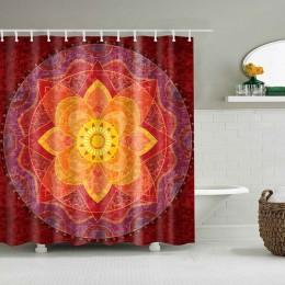 Indian Mandala zasłona prysznicowa nadruk w kwiaty geometryczne czeskie zasłony łazienkowe ściana prysznica wiszące geometryczne