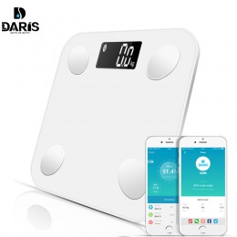 Waga Bluetooth podłoga waga ciała waga łazienkowa inteligentny podświetlany wyświetlacz waga cyfrowa masa ciała masa tłuszczu ma