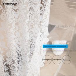 UFRIDAY adamaszek kwiatowy zasłona prysznicowa PEVA zasłony łazienkowe gruby poliester motyl zasłona wanny wodoodporna Mouldproo