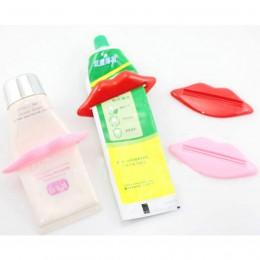 1pc praktyczny dozownik pasty do zębów Rolling Holder Easy Cartoon sexy lips plastikowa łazienka Home wyciskacz do tubki akcesor