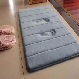 40x60cm mata do kąpieli w domu koral polar dywan łazienkowy absorpcja wody antypoślizgowe z pianki memory chłonne zmywalny dywan