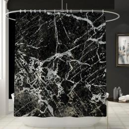 Kreatywny marmur drukowanie łazienka wodoodporny prysznic kurtyna mata podłogowa pokrywa dywan toaleta pokrywa zestaw zasłona wa