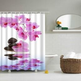 Floral Bamboo Dandelion Maple Leaf tkanina w kwiaty wodoodporne poliestrowe zasłony prysznicowe kurtyna łazienkowa akcesoria do