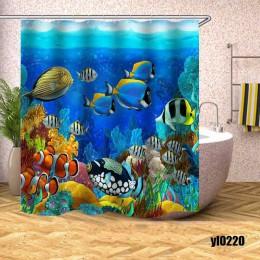 Tropikalna ryba zasłona prysznicowa podmorski Turtle wodoodporna kurtyny kąpielowe dla wanna do łazienki kąpielowa duży szeroki