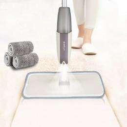Spray mop podłogowy z wkładkami z mikrofibry wielokrotnego użytku 360 stopni uchwyt Mop do kuchni domowej laminowane płytki cera