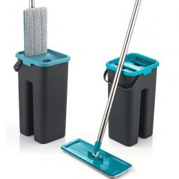 Płaskie wycisnąć Mop i wiadro strony za darmo wyżymnym Mop do czyszczenia podłogi Mop z mikrofibry klocki na mokro lub na sucho