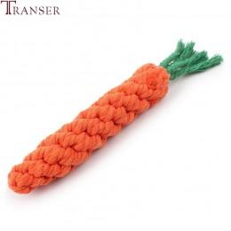 Transer artykuły dla zwierząt wysokiej jakości zabawka dla psa kształt marchewki liny zabawki do gryzienia dla szczeniaka Teath