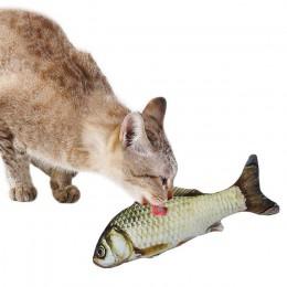 Pet miękki pluszowy 3D w kształcie ryby zabawka dla kota interaktywne prezenty ryby kocimiętka zabawki wypchana poduszka lalka s