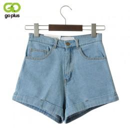 GOPLUS wysokiej talii spodenki jeansowe dla kobiet w stylu Vintage Sexy spodenki jeansowe damskie spodenki jeansowe Feminino Sli