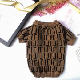 Ciepły sweter dla psa dla małych psów list sweter z nadrukiem dla buldoga francuskiego miękki wystrój dla Chihuahua Pet przebran