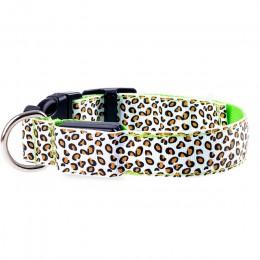 Transer artykuły dla zwierząt regulowany wzór w cętki oświetlenie blask w ciemności LED obroża dla kota/psa 80329