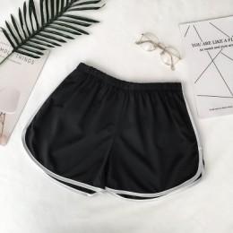 2020 proste damskie wygodne szorty Patchwork Body Fitness treningowe szorty na lato kobiece elastyczne Skinny Slim Beach Egde Sh