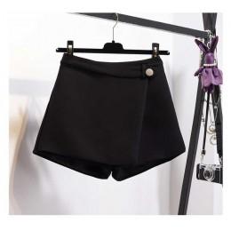 Wiosenne szorty na lato dla kobiet 2020 wysokiej talii dorywczo nieregularne szerokie nogawki krótkie cienka bawełna Plus rozmia