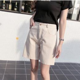 Hzirip 2019 lato kobiety gorąca krótka modna luźna, bawełniana szeroko nogawkowe szorty cukierki kolor wygodne szorty damskie Pl