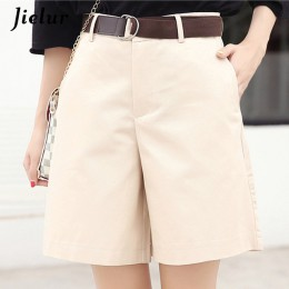 Jielur koreański moda na co dzień letnie spodenki kobiet luźne spodnie szerokie nogawki Pantalon Femme pas zielony biały wysokie