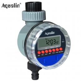 Automatyczny wyświetlacz LCD podlewanie zegar elektroniczny dom ogród zawór kulowy czasowy wyłącznik przepływu wody dla ogrodowy