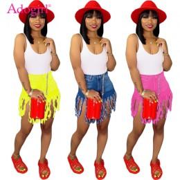 Adogirl Plus rozmiar S-3XL spodenki dżinsowe jednokolorowe frędzlami szlifowane spodenki jeansowe damskie letnie dorywczo proste