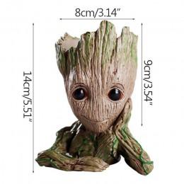 Strongwell doniczka Baby Groot Pen uchwyt garnka rośliny doniczka śliczne figurki zabawki dla dzieci prezent dekoracja stołu