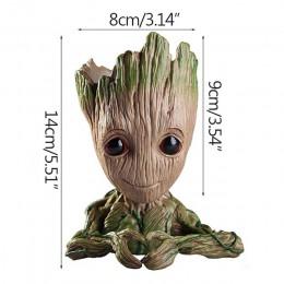 Doniczka dziecko doniczka Groot słodka zabawka długopis uchwyt garnka PVC bohater Model dziecko drzewo człowiek donica na roślin