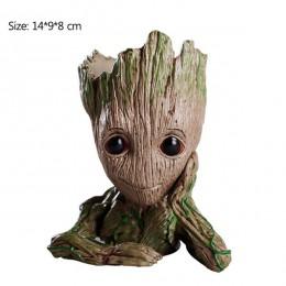 Baby doniczka Groot doniczka kwiatowa figurki drzewo człowiek śliczny zabawkowy Model długopis doniczka ogrodowa doniczka do sad