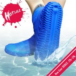 1 para wielokrotnego użytku silikonowe pokrowiec na buty S/M/L kalosze wodoodporne pokrowce na zewnątrz Camping Slip-on odporna