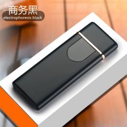 Zapalniczka do ładowania dotykowy indukcyjny wiatroodporny elektroniczny ultra-cienki zapalniczka na USB custom Metal