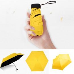 Kieszonkowy mini parasol deszcz kobiety wiatroszczelne trwałe 5 składane parasole przeciwsłoneczne przenośny krem do opalania ko