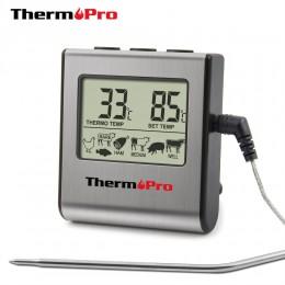 ThermoPro TP-16 cyfrowy termometr piekarnika wyświetlacz LCD termometr do mięs z zegarem gotowanie mleko termometr do grilla kuc