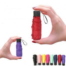 Miniaturowy Parasol kieszonkowy kobiety UV małe parasole 180g deszcz kobiety wodoodporne mężczyźni słońce Parasol wygodne dziewc