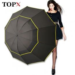 130cm duży Top jakości parasol mężczyzna deszcz kobieta wiatroszczelna duża Paraguas mężczyzna kobiet słońce 3 Floding duży para