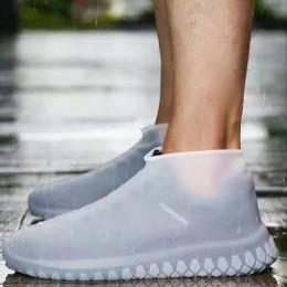 Overschoenen wielokrotnego użytku pokrowce na buty pyłoszczelna osłona przeciwdeszczowa zimowy krok w butach wodoodporne silikon