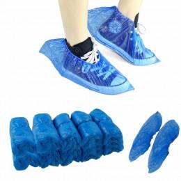 100 sztuk/paczka medyczne wodoodporne pokrowce na buty z tworzywa sztucznego jednorazowe ochraniacze na obuwie domy ochraniacze