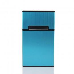1 sztuk nowe Ultra cienkie, modne osobowość Cigaret Case Slim metalowe pudełko aluminiowe pudełko Mini uchwyt papierosa gospodar