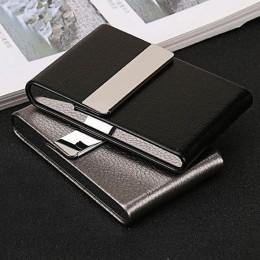 Akcesoria do palenia papierośnica 1 PC pudełko do przechowywania cygar karta wielofunkcyjna ze stali nierdzewnej PU pojemnik na