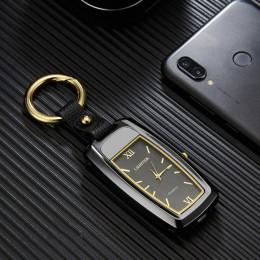 Nowy zegarek lżejszy brelok zapalniczka mała latarka zapalniczka wielofunkcyjny USB ładowanie wiatroodporny papieros zapalniczki