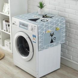 Geometryczna pościel bawełniana osłony na kurz pokrywy pralki lodówka organizator lodówka osłona przeciwpyłowa Home Decor lavado