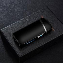 Ładowarka USB podwójna zapalniczka plazmowa wiatroodporna bezpłomieniowa zapalniczka elektroniczna usb touch sensor zapalniczka