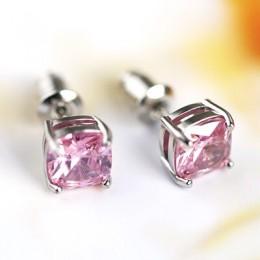 PANSYSEN Vintage 7MM Rainbow mistyczny topaz kolczyki dla kobiet 100% 925 biżuteria srebrna kolczyki hurtownia wesele prezent