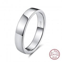 ORSA JEWELS 100% prawdziwe 925 Sterling Silver kobiety pierścienie próbki koreański styl Ring Finger mężczyźni obrączka biżuteri
