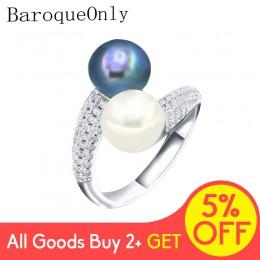 Barokowa naturalna perła słodkowodna biżuteria 925 srebro dwa pierścionki z perłą dla kobiet wysokiej jakości cyrkon prezent ślu