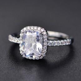 2019 nowy grzywny naturalny rubinowy pierścień 925 Sterling Silver Rings zaręczyny kamień pierścień srebrny różowy kwarc pierści